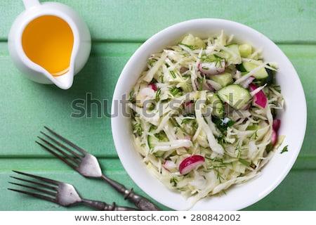 капустный салат огурца Салат буфет ресторан продовольствие Сток-фото © elxeneize