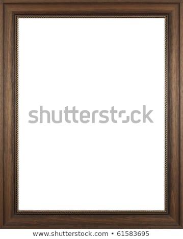 Négyszögletes arany keret tükör kép fal Stock fotó © vizarch