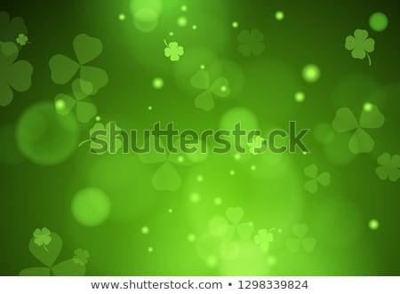 Shamrock ünnepel Szent Patrik napja háttér zöld lóhere Stock fotó © AlphaBaby