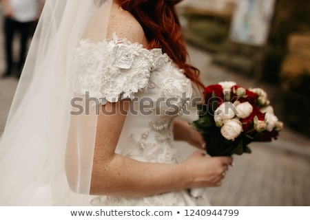 美人 · 秋 · 花束 · 孤立した · 白 · 手をつない - ストックフォト © amok