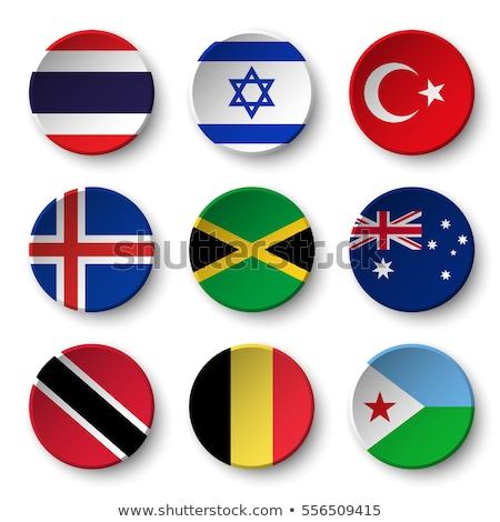 Bandeira papel círculo sombra botão Bélgica Foto stock © gubh83