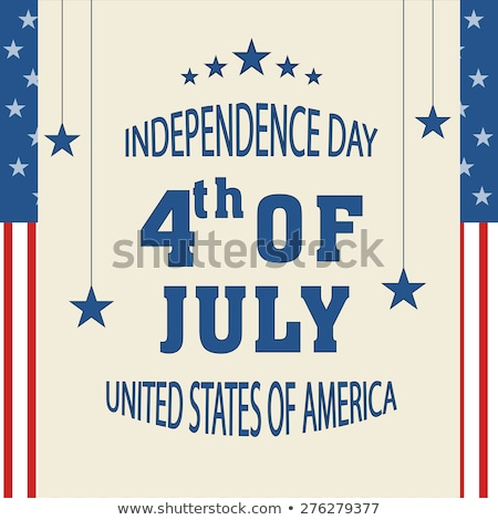 Beautiful 4th of july United States of America with stylish wave Stock photo © bharat