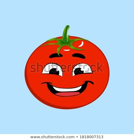 トマト スマイリー 顔文字 ケチャップ ストックフォト © stevanovicigor