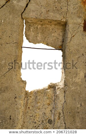Old cement slab with hole in the middle Stock photo © cherezoff