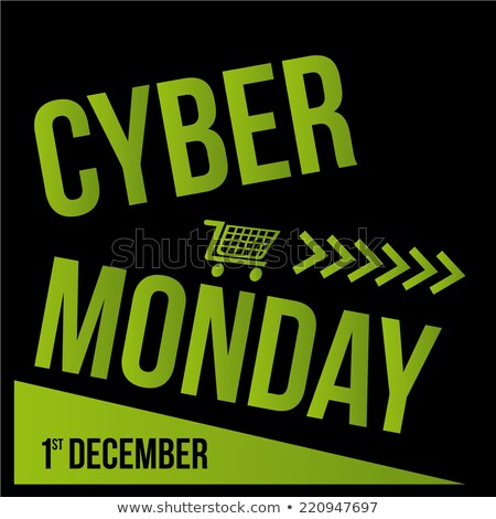 cyber monday on green arrow stock photo © tashatuvango