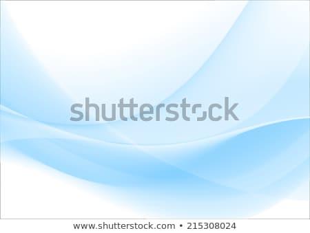 absztrakt · kék · hullámos · hatás - stock fotó © helenstock