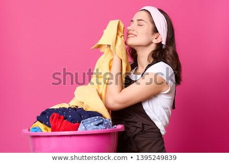 huisvrouw · wasserij · vrouwen · werk · kunst · machine - stockfoto © robisklp
