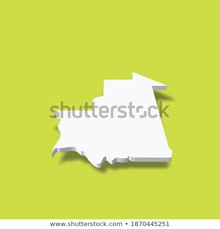 Map Of Mauritania 3d Shape Stock photo © NiroDesign