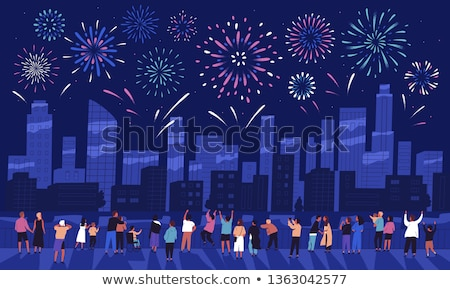 people look the fireworks explosion stock photo © adrenalina