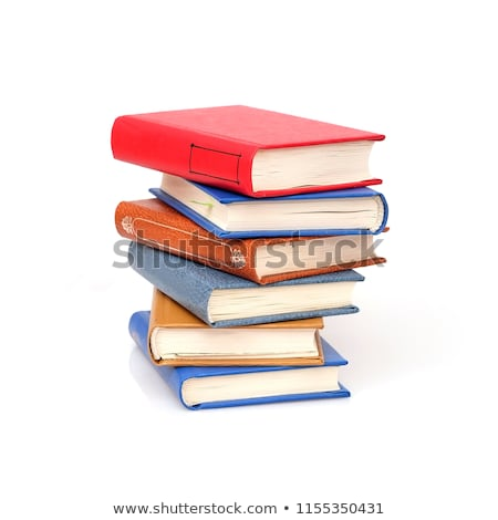 stack of books with bookmark Stock photo © mizar_21984