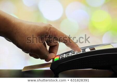 el · kredi · kartı · depolamak · finanse · banka · alışveriş - stok fotoğraf © mady70