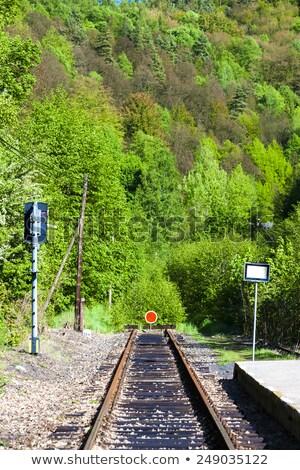 Kolej żelazna utwór Czechy Europie transportu line Zdjęcia stock © phbcz