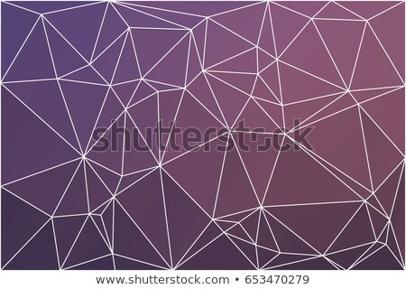 Blue And Pink Luminositygeometric Low Poly Style Illustration Graphic Background Photo stock © TasiPas