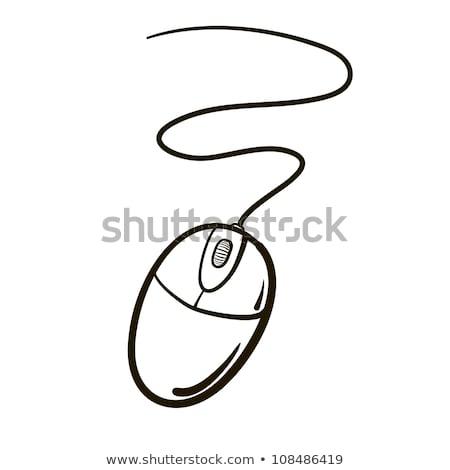 комического Cartoon Компьютерная мышь ретро стиль Сток-фото © lineartestpilot