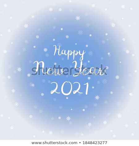 crystal snowflakes blue background Stock photo © marinini