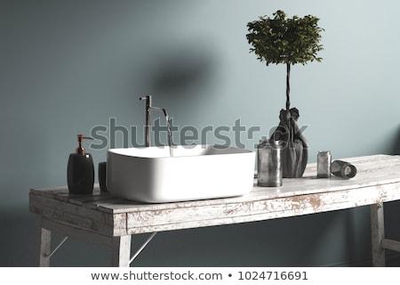 現代 · 給水栓 · ステンレス鋼 · 仕上げ · バス · シンク - ストックフォト © dariazu