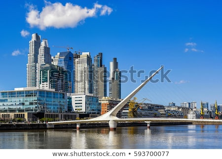 sziluett · Buenos · Aires · Argentína · kilátás · Rio · LA - stock fotó © fotoquique