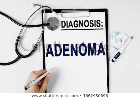 Diagnosis - Adenoma. Medical Concept. Stock photo © tashatuvango