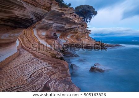 Scénique île falaise côte montagne tasmanie Photo stock © roboriginal
