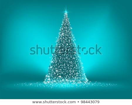 blue christmas card template eps 8 stock photo © beholdereye