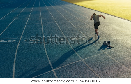 athletics all weather running track Stock photo © stevanovicigor