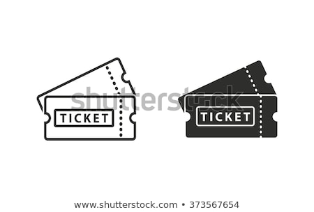 billet · illustration · designer · blanche · film · maison - photo stock © netkov1