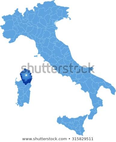 harita · İtalya · dışarı · yalıtılmış · beyaz · mavi - stok fotoğraf © istanbul2009