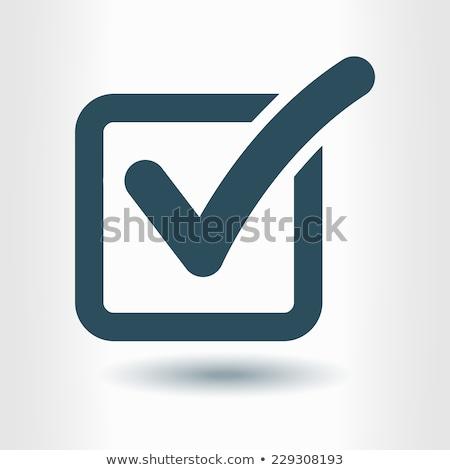 Tick Mark Vector blue Web Icon Stock photo © rizwanali3d