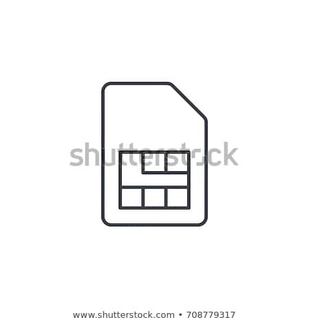 Kart ikon telefon telefon hareketli iletişim Stok fotoğraf © kiddaikiddee