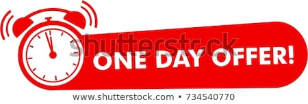 1 day offer red vector icon button stock photo © rizwanali3d