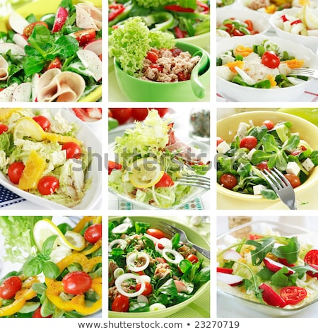 food - detail of salad with cheese Stock photo © jarin13