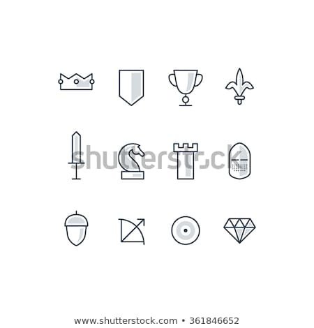 Médiévale arc flèche icône illustration Photo stock © TRIKONA