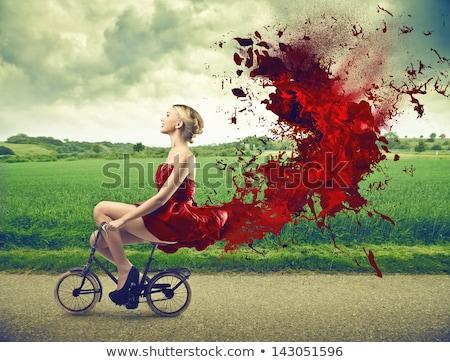Stok fotoğraf: Zarif · güzel · sarışın · kadın · moda