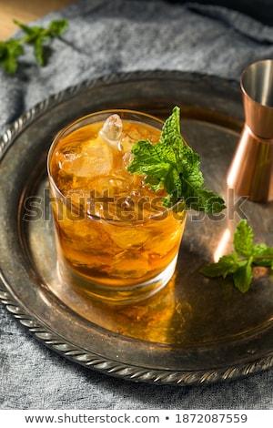 Coquetel conhaque licor hortelã-pimenta cerveja Foto stock © netkov1
