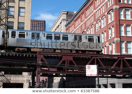 Famous elevated overhead commuter train in Chicago. Stock photo © CaptureLight