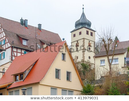 turret clock in Forchtenberg Stock photo © prill