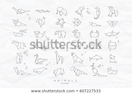 Elephant origami illustration. Stock photo © cienpies