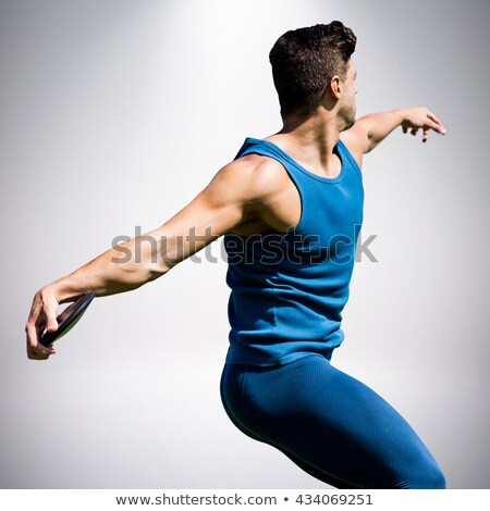 Görüntü atlet adam disk Stok fotoğraf © wavebreak_media