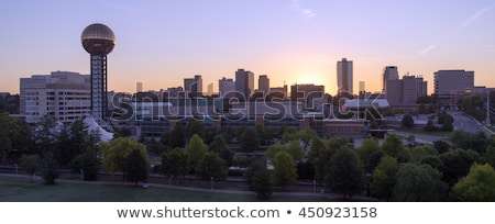sunrise buildings downtown city skyline knoxville tennessee unit stock photo © cboswell
