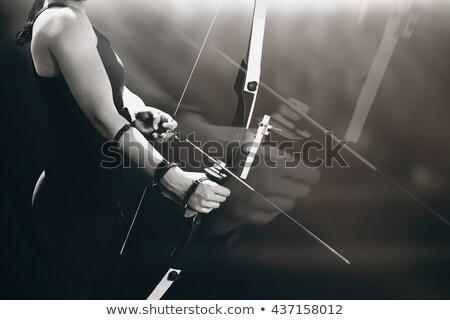 összetett kép sportos nő gyakorol íjászat Stock fotó © wavebreak_media