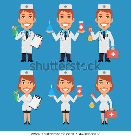 orvos · szemek · nő · orvosi · szín · beteg - stock fotó © leedsn