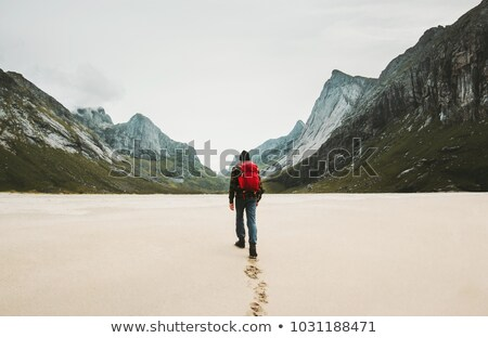Man with red backpack Stock photo © bluering