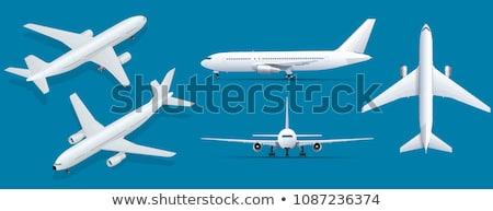 Kék repülőgép illusztráció fehér üzlet háttér Stock fotó © bluering