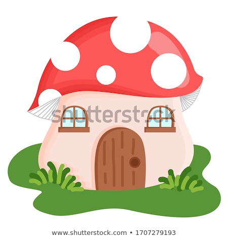 champignon · dorp · illustratie · bergen · dieren · kleurrijk - stockfoto © vectomart