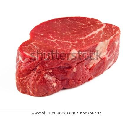 Ruw filet witte koken vers geïsoleerd Stockfoto © M-studio