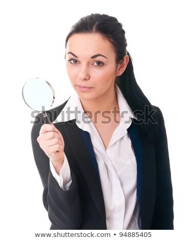 女性 税 虫眼鏡 見える 論文 文書 ストックフォト © stevanovicigor