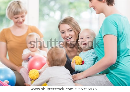 babies and moms in postnatal mother and child course stock photo © kzenon