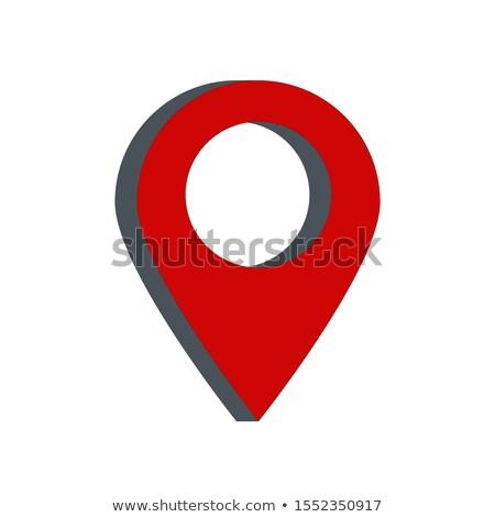 красный карта внимание изолированный белый дороги Сток-фото © Oakozhan