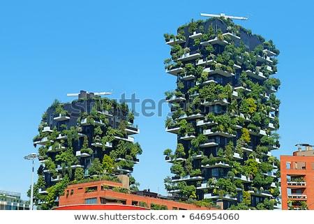 超高層ビル 緑 テラス クローズアップ 表示 空 ストックフォト © bezikus
