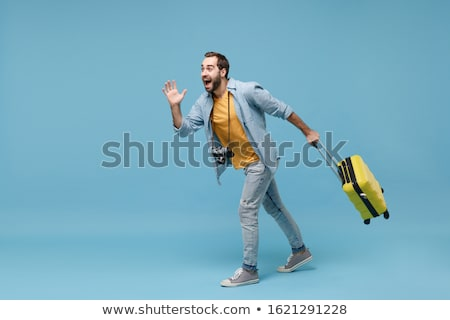 Young man in travel concept isolated on white Stock photo © Elnur